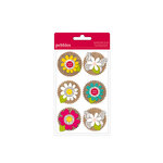 American Crafts - Pebbles - Walnut Grove Collection - 3 Dimensional Flowers
