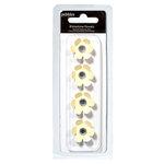 American Crafts - Pebbles - Basics Collection - Rhinestone Flowers - Cream