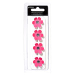 American Crafts - Pebbles - Basics Collection - Rhinestone Flowers - Begonia