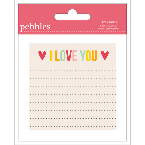 American Crafts - Pebbles - Love You More Collection - Sticky Notes - Girl