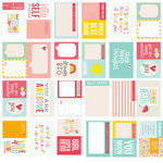 Pebbles - Love You More Collection - Journaling Cards - Girl