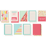 American Crafts - Pebbles - Love You More Collection - Circle Journal - Girl