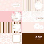 American Crafts - Pebbles - New Arrival Collection - 12 x 12 Embossed Double Sided Paper - Cards Girl, CLEARANCE