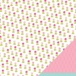 American Crafts - Pebbles - Ever After Collection - 12 x 12 Double Sided Paper - Blushing Princess