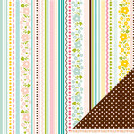 American Crafts - Pebbles - Floral Lane Collection - 12 x 12 Double Sided Textured Paper - Just Because