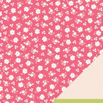 American Crafts - Pebbles - Floral Lane Collection - 12 x 12 Double Sided Textured Paper - Warm Thoughts