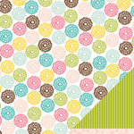 American Crafts - Pebbles - Floral Lane Collection - 12 x 12 Double Sided Textured Paper - A Little Hello