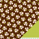 American Crafts - Pebbles - Floral Lane Collection - 12 x 12 Double Sided Textured Paper - With Love
