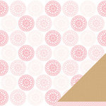 American Crafts - Pebbles - New Addition Girl Collection - 12 x 12 Double Sided Paper - Darling