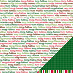 American Crafts - Pebbles - Welcome Christmas Collection - 12 x 12 Double Sided Paper - Merry Christmas