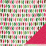 American Crafts - Pebbles - Welcome Christmas Collection - 12 x 12 Double Sided Paper - Deck The Halls