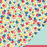 American Crafts - Pebbles - Fresh Goods Collection - 12 x 12 Double Sided Paper - Flower Basket