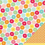 American Crafts - Pebbles - Hip Hip Hooray Collection - 12 x 12 Double Sided Glitter Paper - Celebration