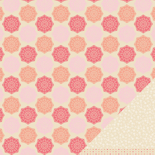 American Crafts - Pebbles - Country Picnic Collection - 12 x 12 Double Sided Kraft Paper - Picket Fence