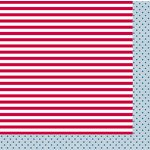 American Crafts - Pebbles - Let Freedom Ring Collection - 12 x 12 Double Sided Paper - Benjamin Franklin