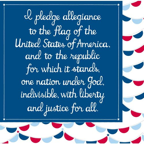 American Crafts - Pebbles - Let Freedom Ring Collection - 12 x 12 Double Sided Paper - John Hancock