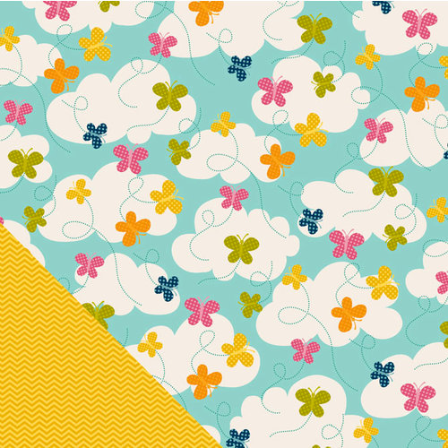 Pebbles - Sunnyside Collection - 12 x 12 Double Sided Paper - Blissful