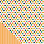 American Crafts - Pebbles - Sunnyside Collection - 12 x 12 Double Sided Paper - Dots