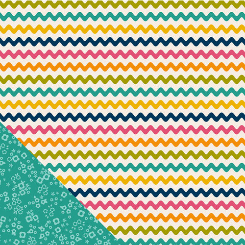 American Crafts - Pebbles - Sunnyside Collection - 12 x 12 Double Sided Paper - Zippy