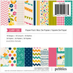 American Crafts - Pebbles - Sunnyside Collection - 6 x 6 Paper Pad