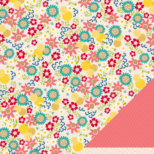 American Crafts - Pebbles - Walnut Grove Collection - 12 x 12 Double Sided Paper - Nellie