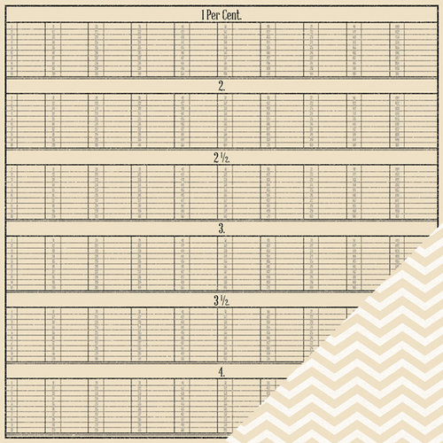American Crafts - Pebbles - Walnut Grove Collection - 12 x 12 Double Sided Kraft Paper - Cassandra