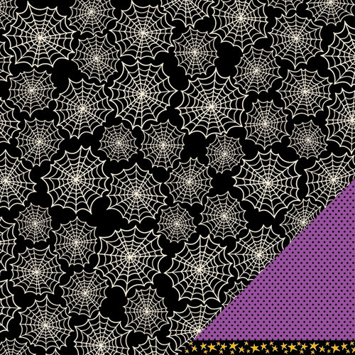 American Crafts - Pebbles - Tricks and Treats Collection - Halloween - 12 x 12 Double Sided Paper - Dread St.