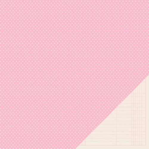 American Crafts - Pebbles - Basics Collection - 12 x 12 Double Sided Paper - Peony Mini Dot