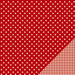 American Crafts - Pebbles - Basics Collection - 12 x 12 Double Sided Paper - Rouge Dot