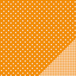 American Crafts - Pebbles - Basics Collection - 12 x 12 Double Sided Paper - Apricot Dot