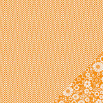 Pebbles - Basics Collection - 12 x 12 Double Sided Paper - Apricot Chevron