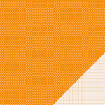 Pebbles - Basics Collection - 12 x 12 Double Sided Paper - Apricot Mini Dot
