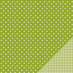 Pebbles - Basics Collection - 12 x 12 Double Sided Paper - Leaf Dot