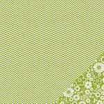 Pebbles - Basics Collection - 12 x 12 Double Sided Paper - Leaf Chevron