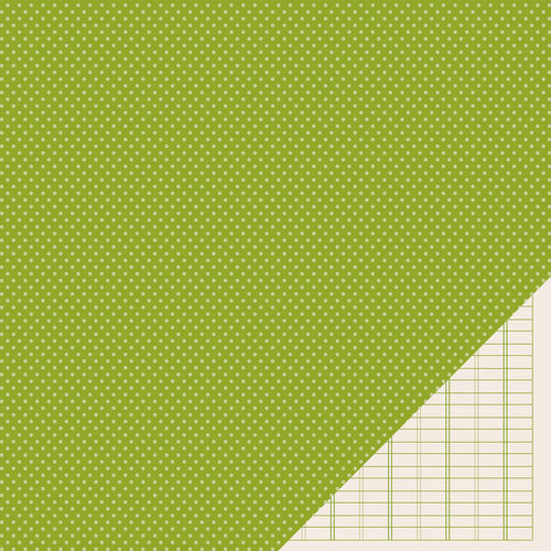 American Crafts - Pebbles - Basics Collection - 12 x 12 Double Sided Paper - Leaf Mini Dot