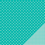 American Crafts - Pebbles - Basics Collection - 12 x 12 Double Sided Paper - Aqua Dot