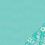 Pebbles - Basics Collection - 12 x 12 Double Sided Paper - Aqua Chevron