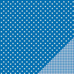 American Crafts - Pebbles - Basics Collection - 12 x 12 Double Sided Paper - Marine Dot