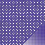 Pebbles - Basics Collection - 12 x 12 Double Sided Paper - Purple Dot