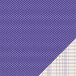 Pebbles - Basics Collection - 12 x 12 Double Sided Paper - Purple Mini Dot