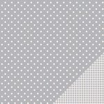American Crafts - Pebbles - Basics Collection - 12 x 12 Double Sided Paper - Ash Dot