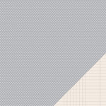 American Crafts - Pebbles - Basics Collection - 12 x 12 Double Sided Paper - Ash Mini Dot