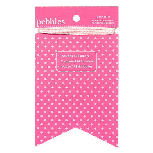 American Crafts - Pebbles - Basics Collection - Banner Kit - Begonia