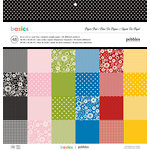 American Crafts - Pebbles - Basics Collection - 12 x 12 - Paper Pad
