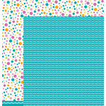 American Crafts - Pebbles - Party with Amy Locurto - 12 x 12 Double Sided Paper - Waves