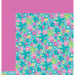 American Crafts - Pebbles - Party with Amy Locurto - 12 x 12 Double Sided Paper - Sea Flower