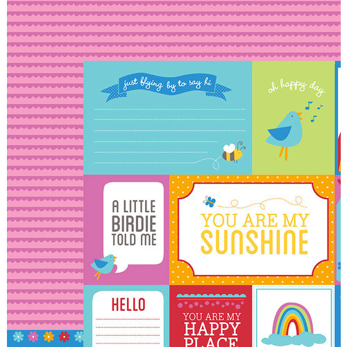 American Crafts - Pebbles - Party with Amy Locurto - 12 x 12 Double Sided Paper - Bliss