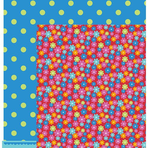 American Crafts - Pebbles - Party with Amy Locurto - 12 x 12 Double Sided Paper - Bloom