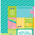 American Crafts - Pebbles - Party with Amy Locurto - 12 x 12 Double Sided Paper - Tropical