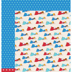 American Crafts - Pebbles - Party with Amy Locurto - 12 x 12 Double Sided Paper - SuperKid
